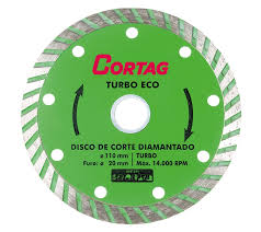 Disco de Corte P/ Mármores e Granitos Diamantado Turbo Eco Cortag