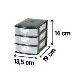 Mini Gaveteiro Organizador C/3 Gavetas - 2 unidades