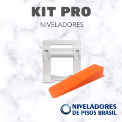 KIT  NIVELADORES 1.000 CLIPS LARGOS + 250 CUNHAS LARGAS (SEM ALICATE)