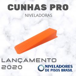 1.000 CUNHAS LARGAS XL (LINHA PRO) P/NIVELADORES