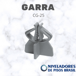 ESPAÇADOR PLÁSTICO GARRA CG-25 mm C/300